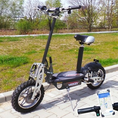 Trottinette électrique CROSS XXL Viron Motors 1000W - CARBONE