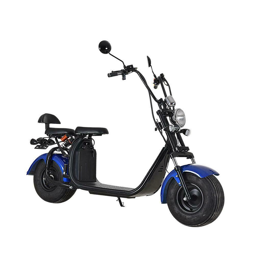 Scooter électrique City Coco Cool - Deux places - homologué route avec carte grise - Bleu
