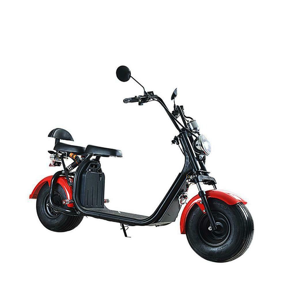 Scooter électrique City Coco Cool - Deux places - homologué route avec carte grise - Rouge