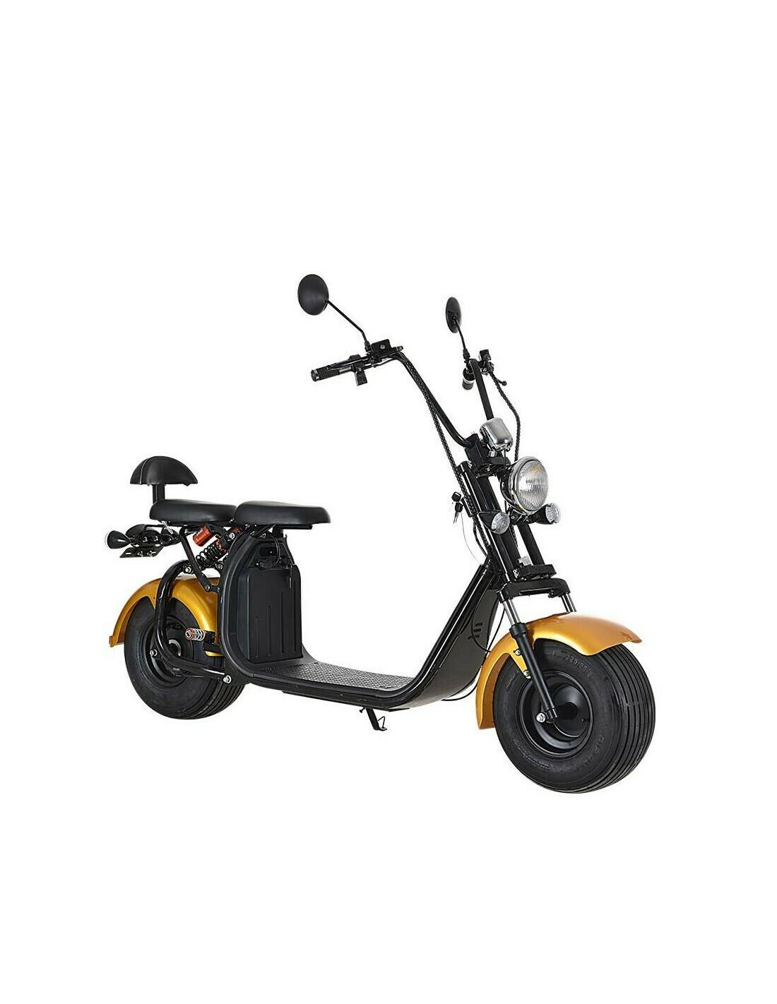 Scooter électrique City Coco Cool - Deux places - homologué route avec carte grise - Champagne