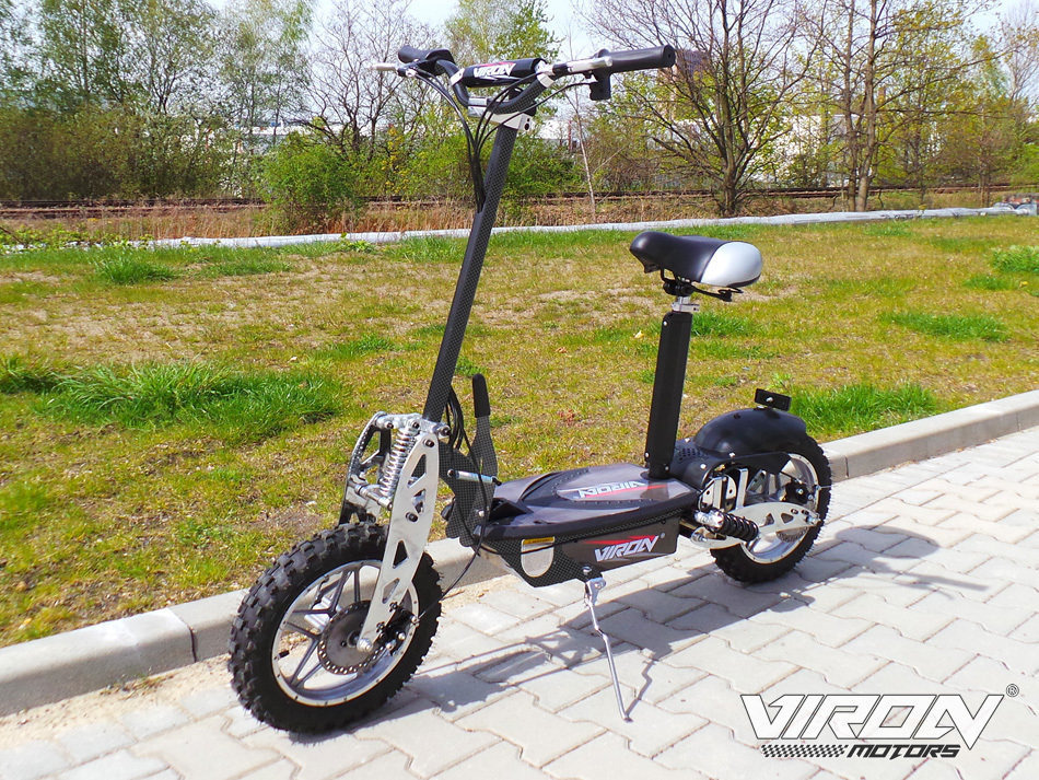 Trottinette électrique CROSS XXL Viron Motors 1000W - NOIR