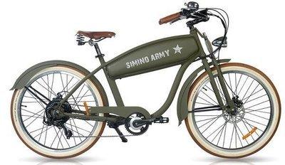 Vélo électrique Cruiser Old Army Harley matte