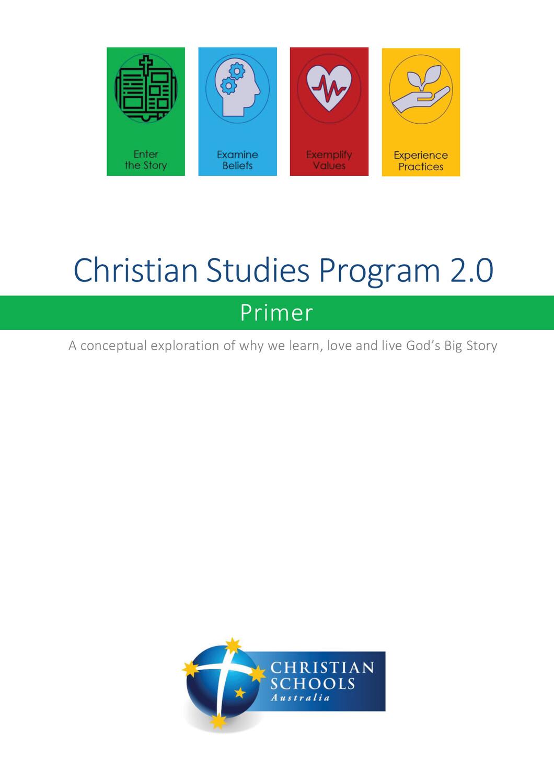 Christian Studies Program 2.0 -- Primer