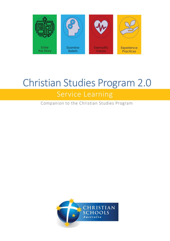 Christian Studies Program 2.0 -- Service Learning