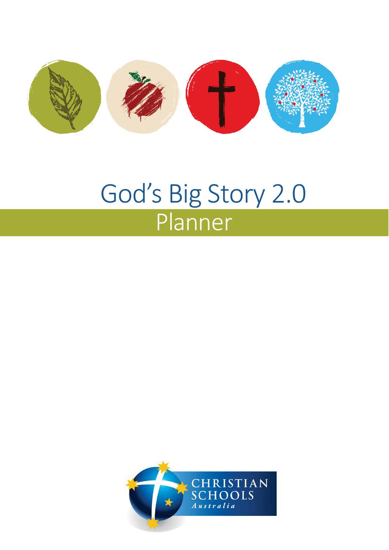 God's Big Story 2.0 Planner