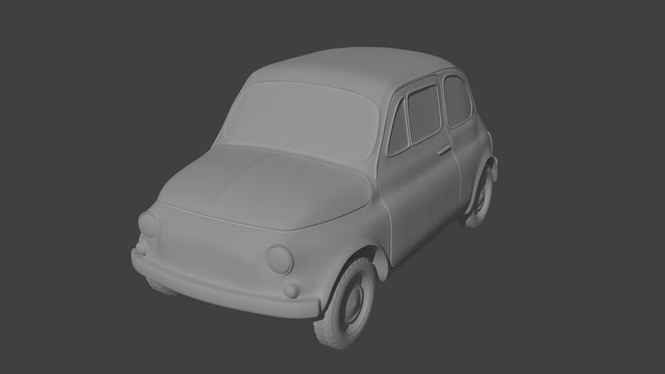 28mm Heroic Scale Little Italian Car