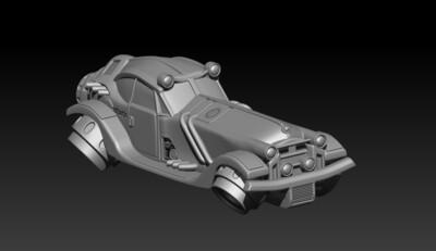 STL FIle Inman Deuce Flying Roadster