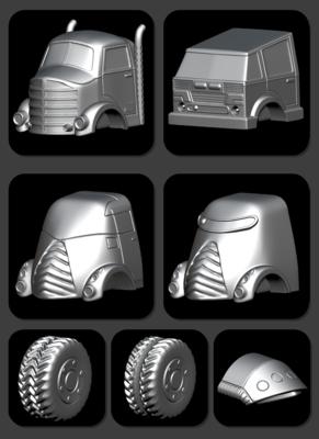 STL FIle Trucks! Lots of Trucks!