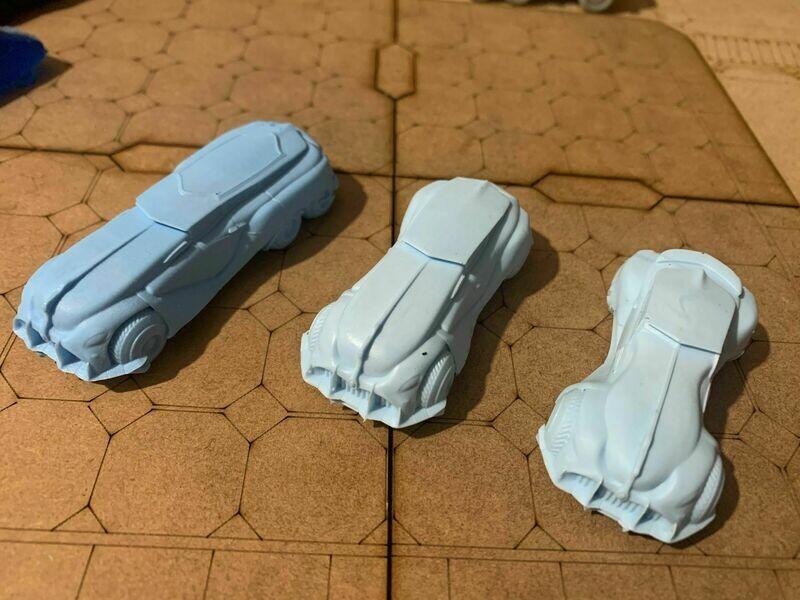 15mm Cars Bundle - Sci Fi Retro 'Rods