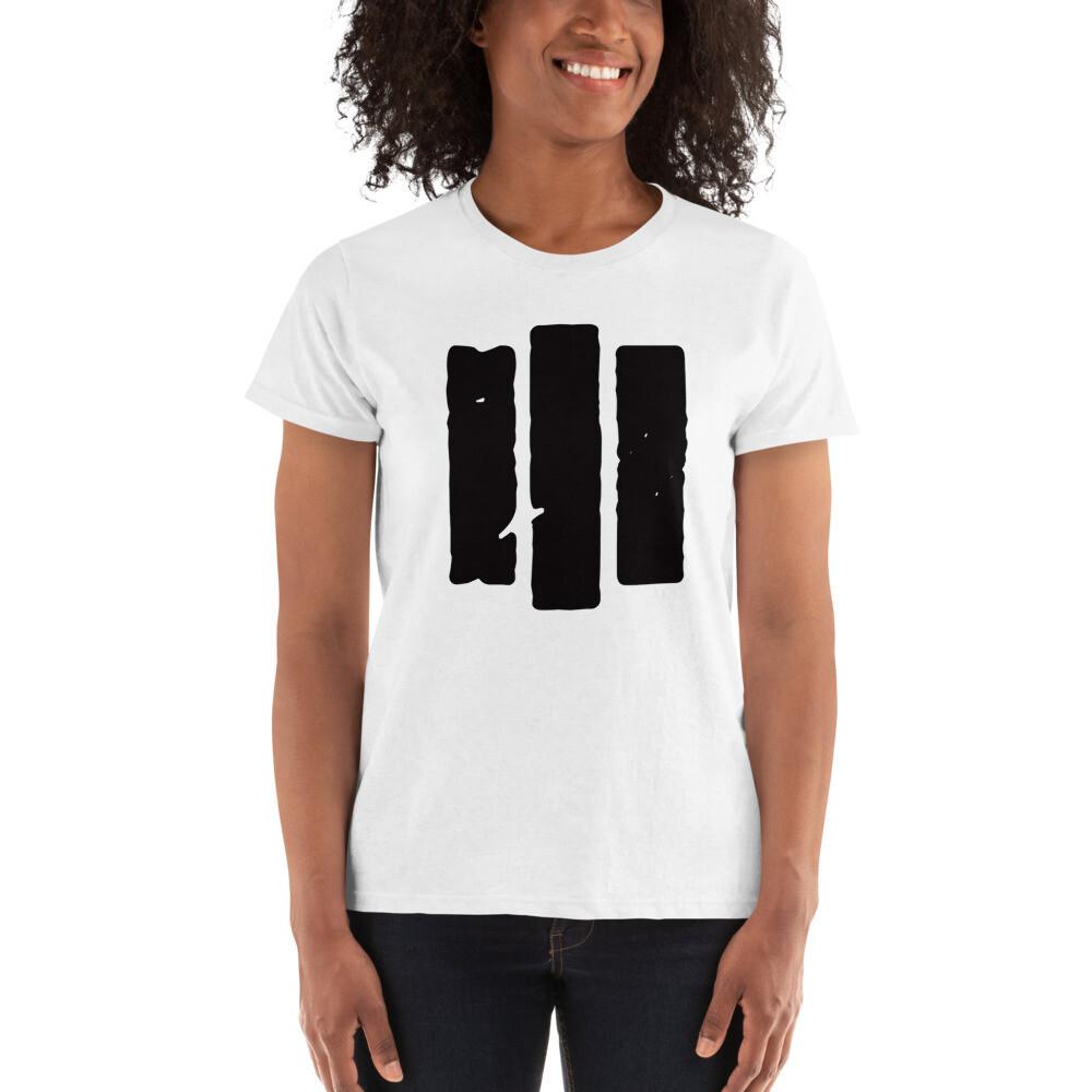 The Middle Way. Black Logo. Women's T-shirt
