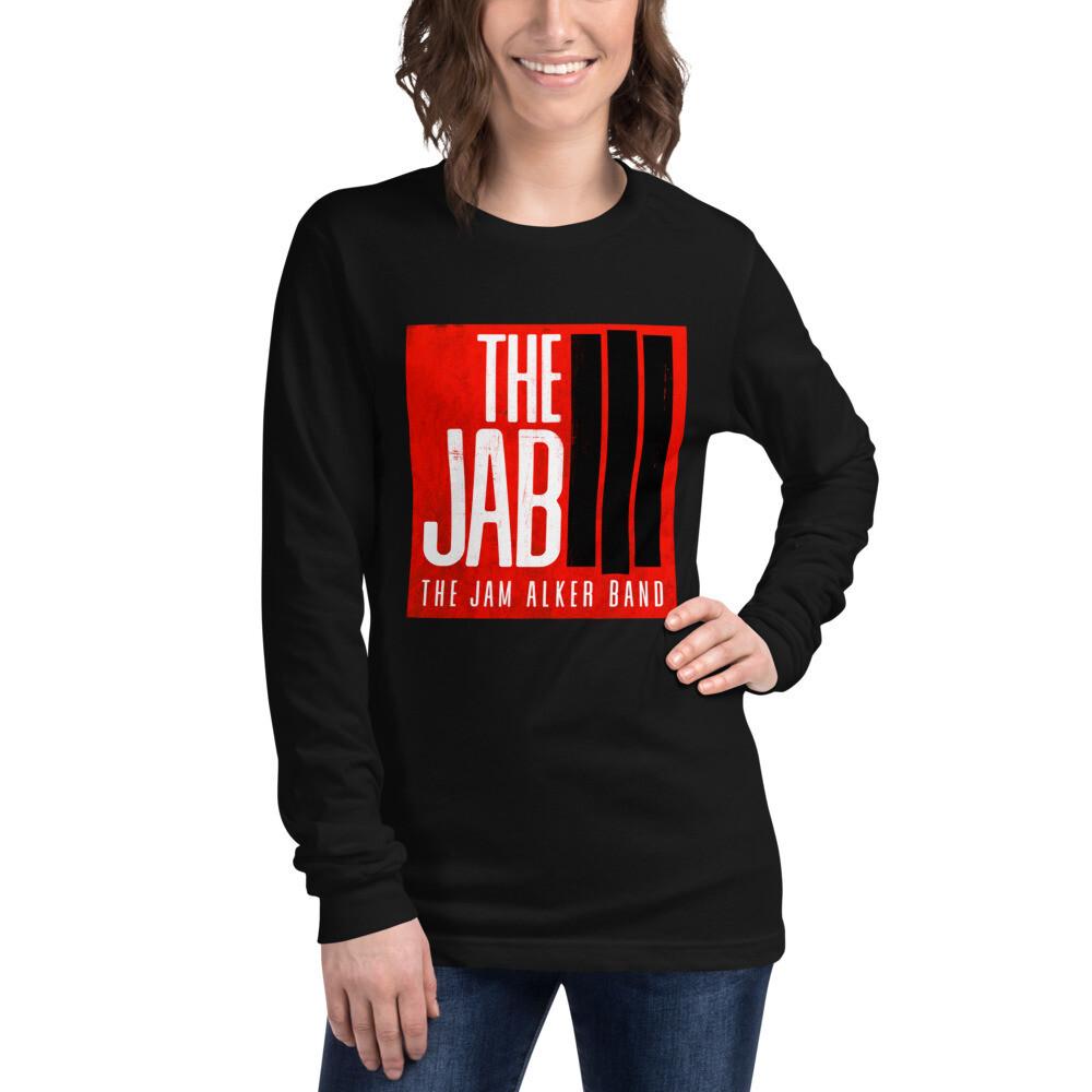 The JAB Red Logo. Women's Long Sleeve T-Shirt. 3 Colors.