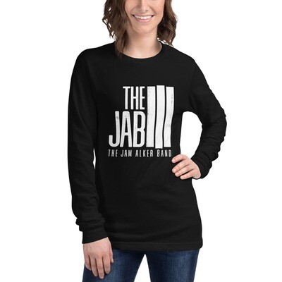 The JAB White Logo. Women's Long Sleeve T-Shirt.