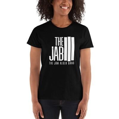 The JAB White Logo. Women's Short Sleeve T-Shirt.