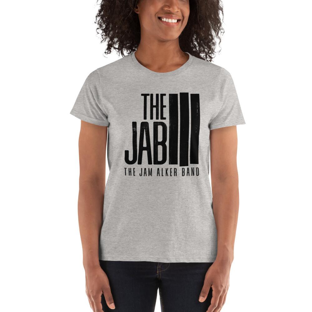 The JAB Black Logo. Women's Short-Sleeve T-Shirt. 2 Colors.