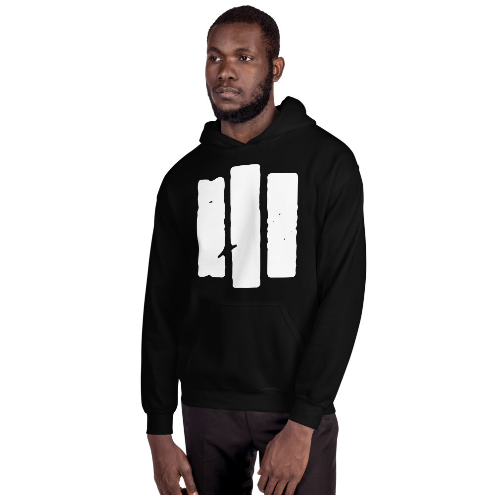 The Middle Way. White Logo. Unisex Hoodie.