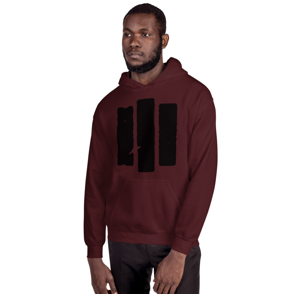 The Middle Way. Black Logo. Unisex Hoodie. 3 Colors.