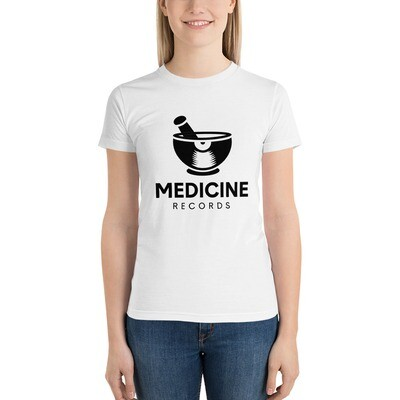 Medicine Records. Black Logo. Women's T-Shirt.