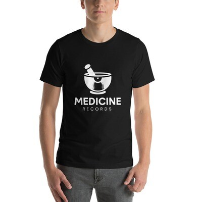 Medicine Records. White Logo. Men's T-Shirt.