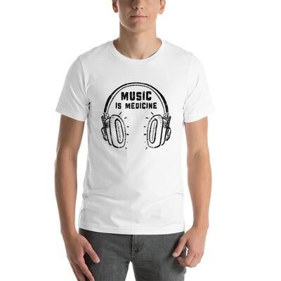 Music Is Medicine. Black Logo. Men's T-Shirt.