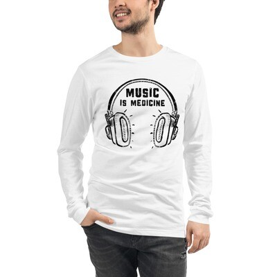 Music Is Medicine. Unisex Long Sleeve T-Shirt.