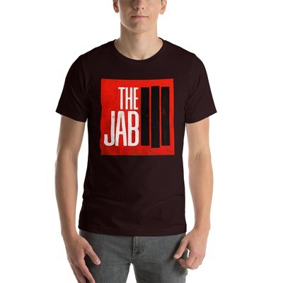The JAB Red Logo. Men's Short Sleeve T-Shirt. 3 Colors.