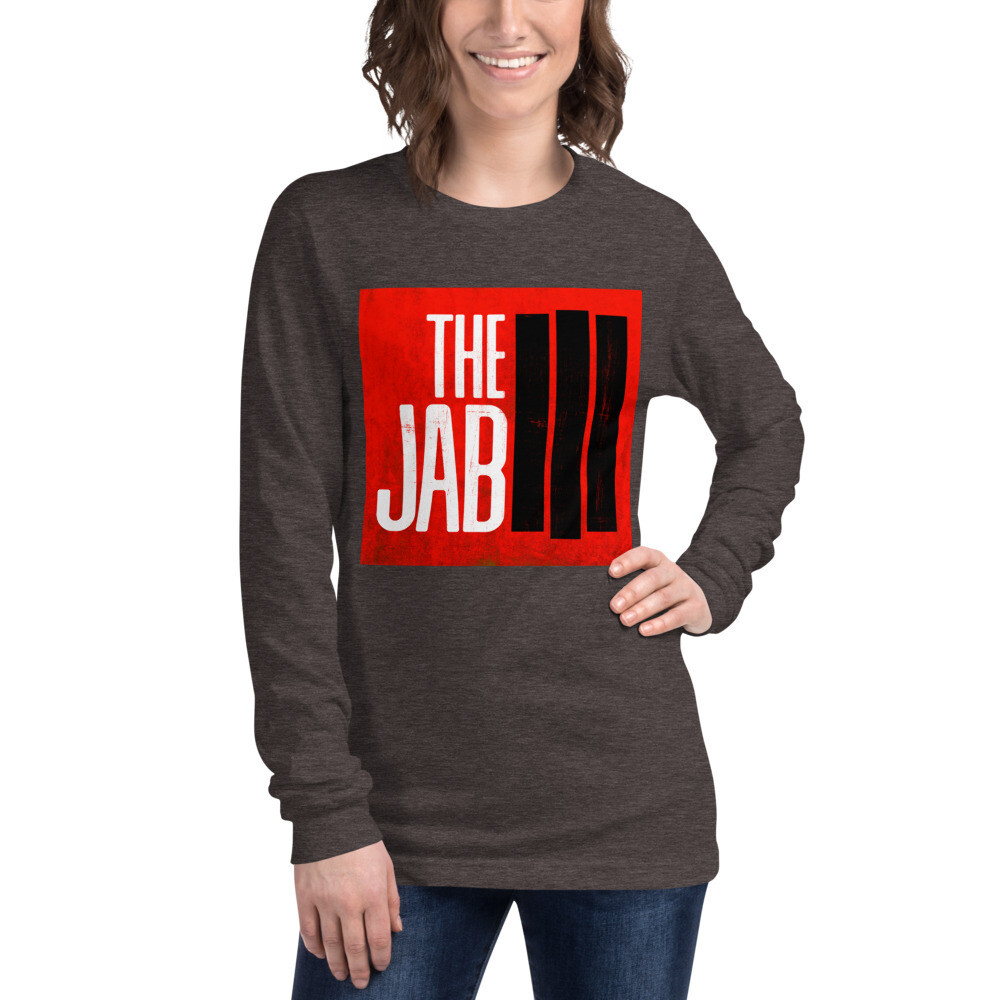 The JAB Red Logo. Women's Long Sleeve T-Shirt. 4 Colors.