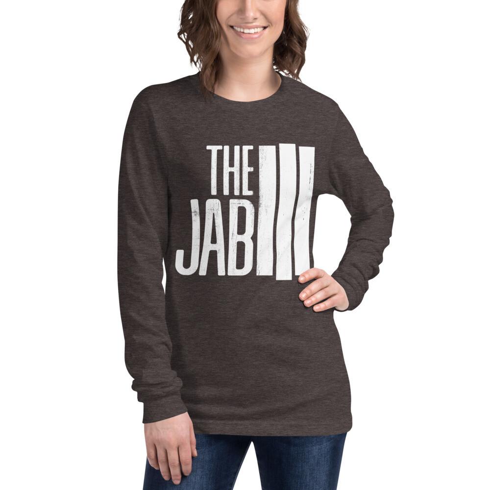 The JAB White Logo. Women's Long Sleeve T-Shirt. 2 Colors.