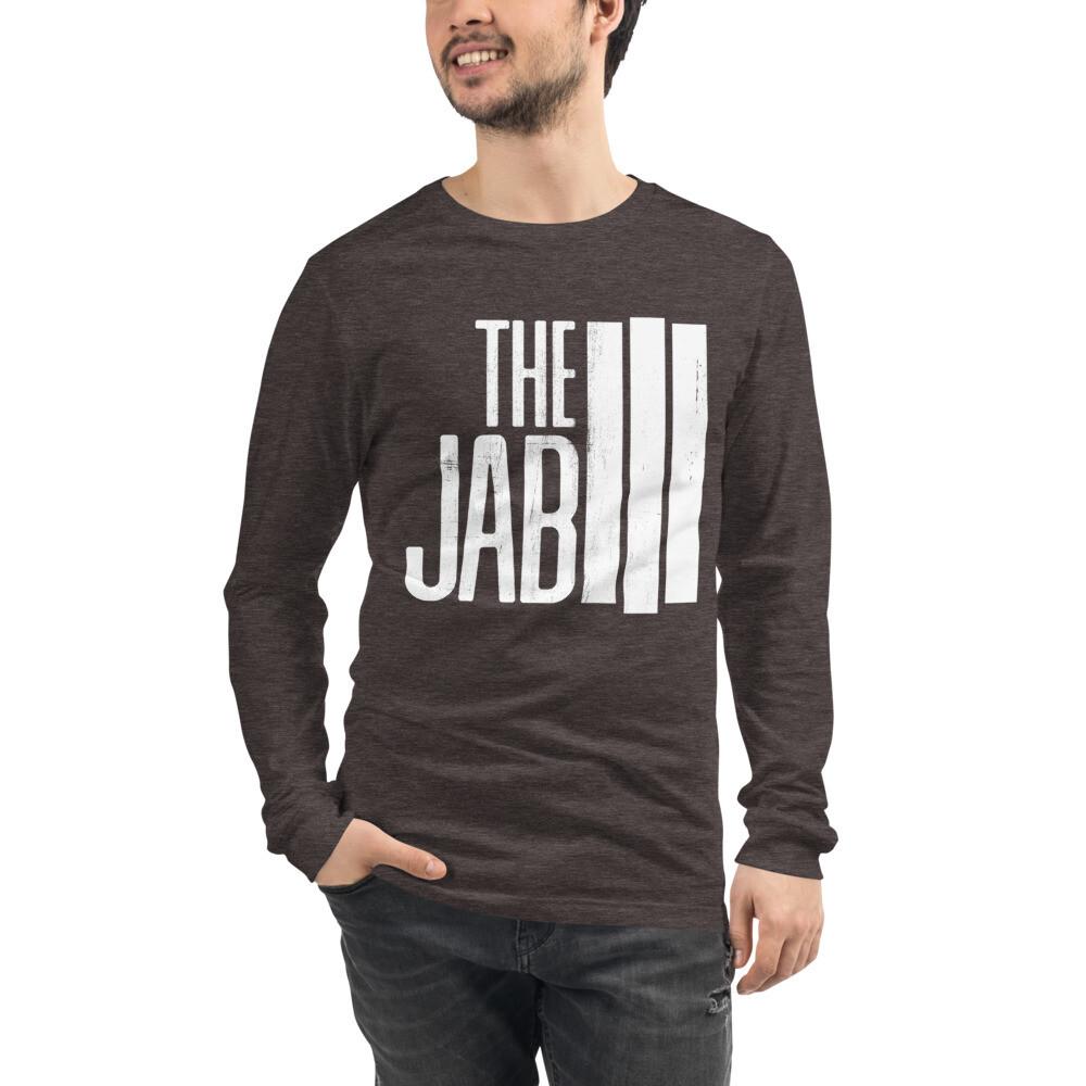 The JAB White Logo. Men's Long Sleeve T-Shirt. 2 Colors.