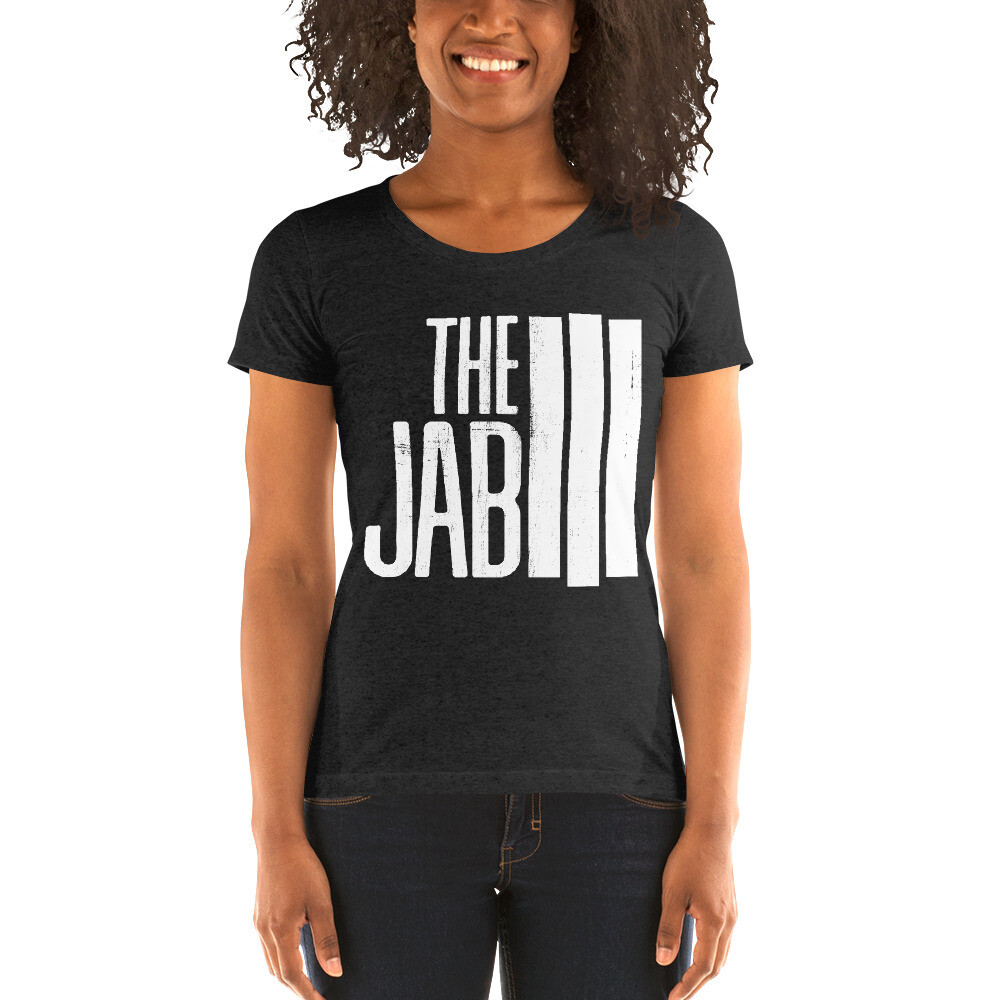The JAB White Logo. Women's Short Sleeve T-Shirt. 3 Colors.