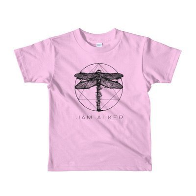 Little Kids T-Shirt (2-6). 5 Colors. Dragonfly Printed in Black.