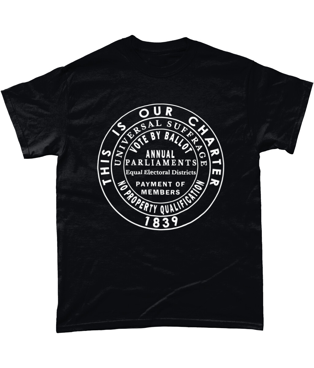 Black tee | Unisex | Six Points of the Charter 1839