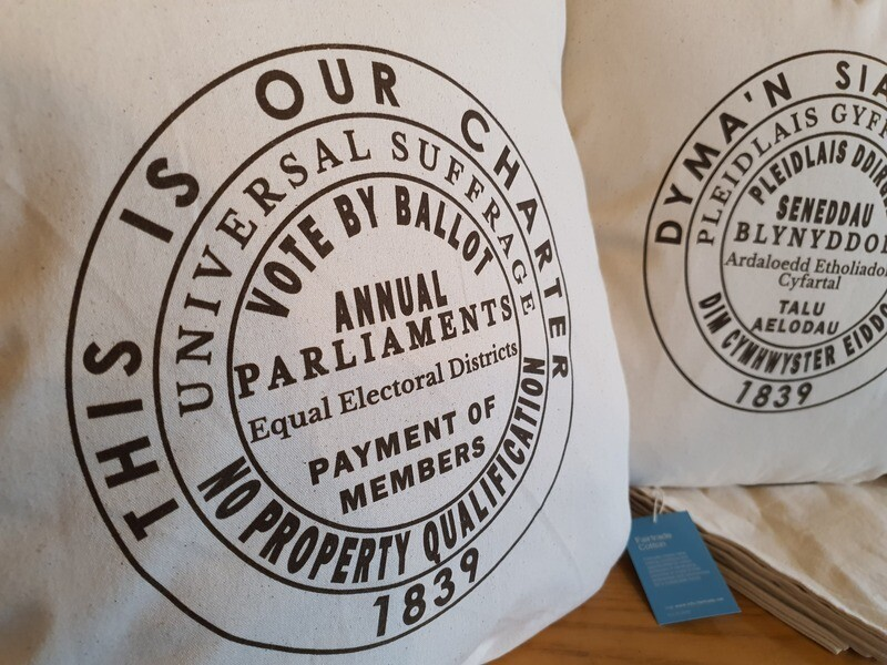 THIS IS OUR CHARTER Cushion cover (English, single)
