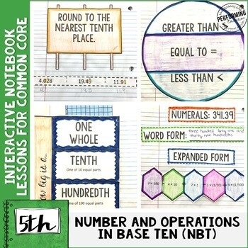 Interactive Math Notebook Common Core Aligned 5th Grade ALL NBT Standards