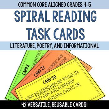 Spiral Reading Task Cards