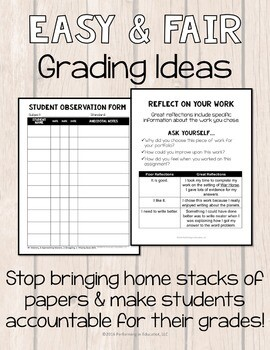 Easy and Fair Grading: Upper Grade Ideas For New Teachers