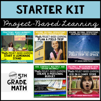 5th Project Based Learning Math Starter Kit Bundle