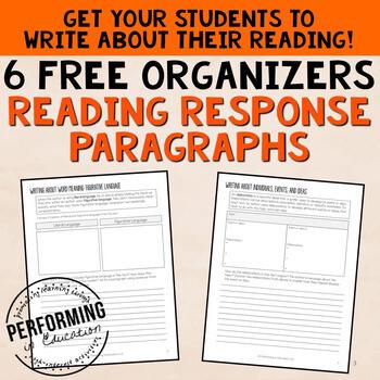Reading Response Paragraphs: Free Organizers! Grades 4, 5, 6