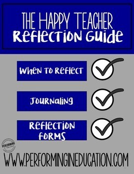 The daily teacher reflection guide with printable organizers