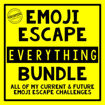 Emoji Escape Room EVERYTHING Bundle ELA & Math Review 3rd, 4th, and 5th