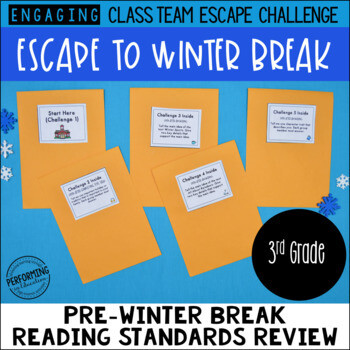 3rd Grade Escape to Winter Break! Reading Escape Room