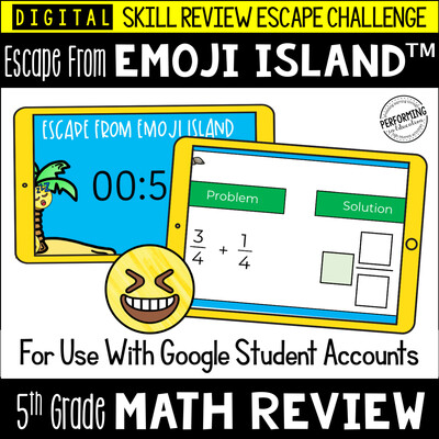 5th Grade Math Test Prep Game | Digital Escape Room | Google Classroom