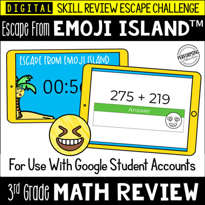 3rd Grade Math Test Prep Game | Digital Escape Room | Google Classroom