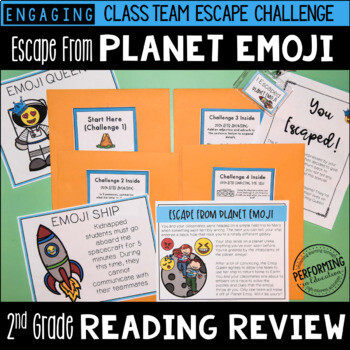2nd Grade Reading Review Game | ELA Test Prep Game Escape Room