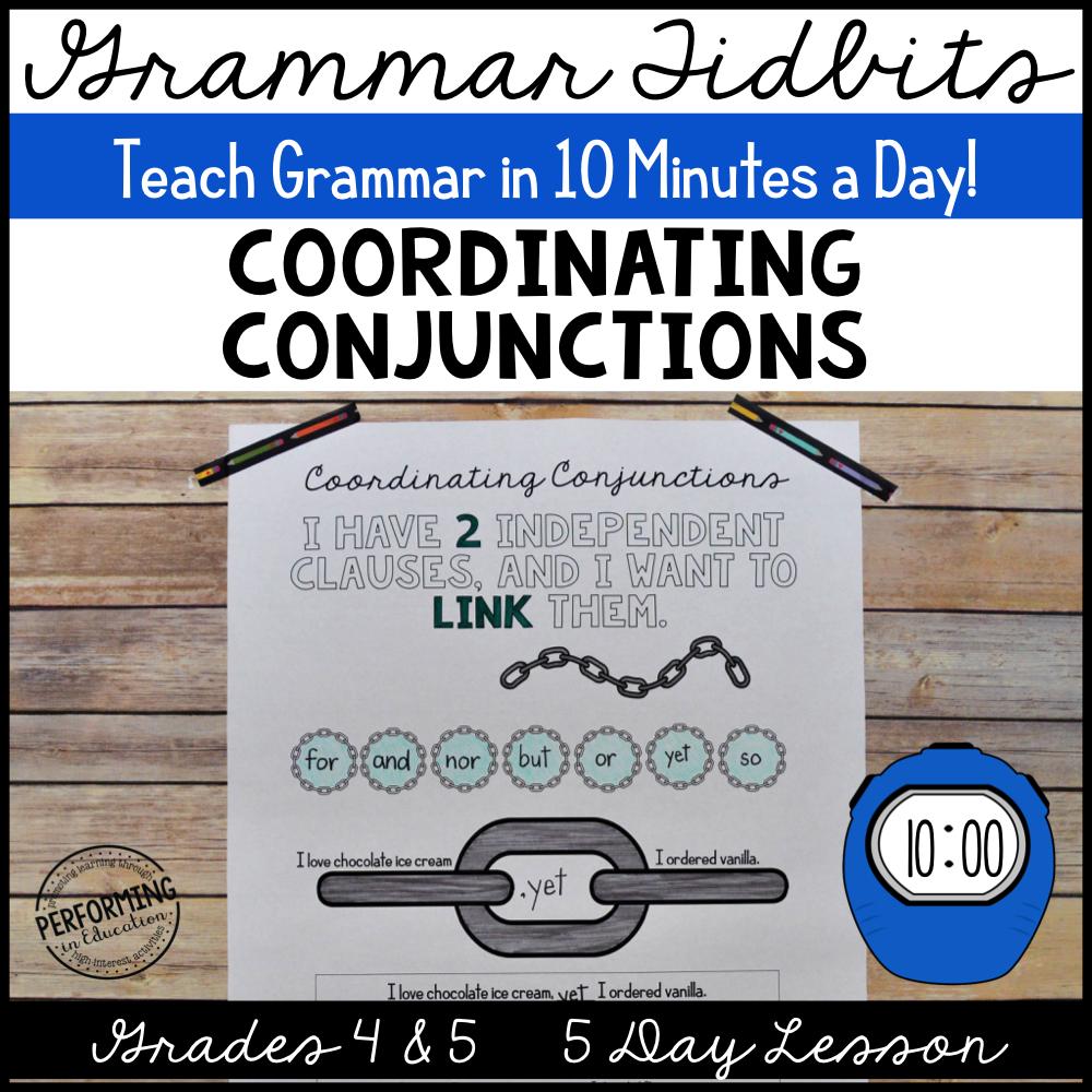 Grammar Tidbits: Coordinating Conjunctions