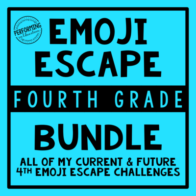4th Grade Emoji Escape ELA & Math Bundle