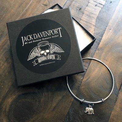 Jack Davenport - Slider Bracelet - Baby Elephant Charm