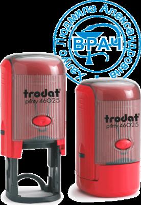 Печать врача на автоматической оснастке Trodat Printy 46025 (25 мм)