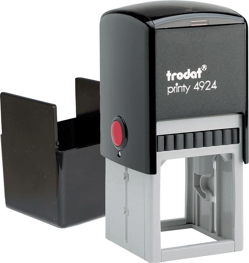 Печать на автоматической оснастке Trodat Printy 4924 40х40 мм