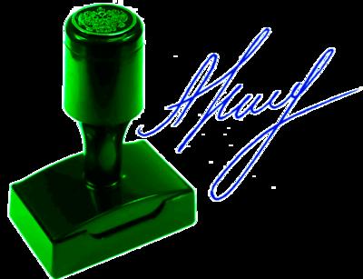 Факсимиле флэш (красконаполненное) ВР5636-КН, 56х36 мм