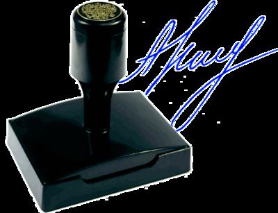 Факсимиле флэш (красконаполненное) ВР6040-КН, 60х40 мм